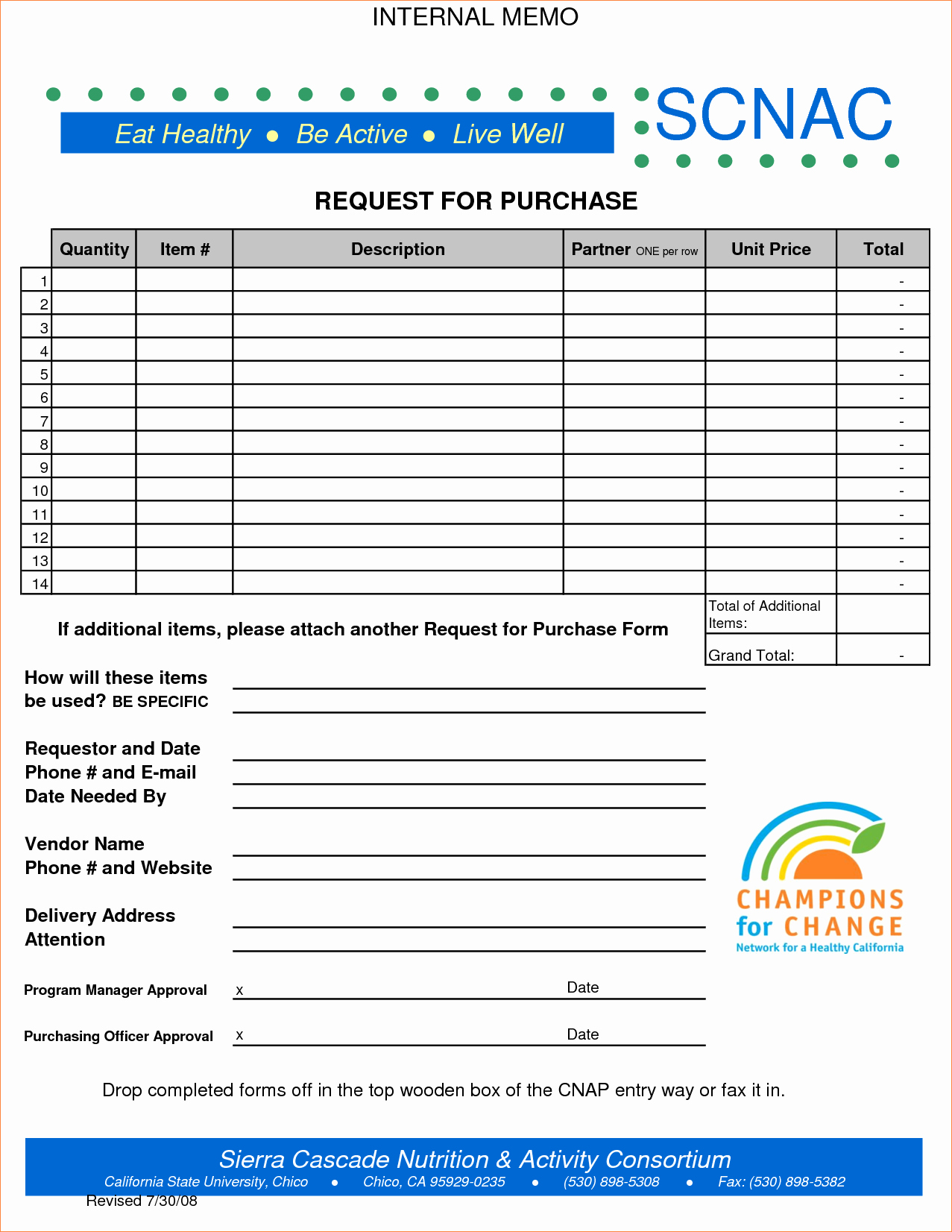 6 Purchase Request form Template