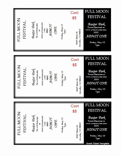 7 Best Of Avery Printable event Tickets Avery