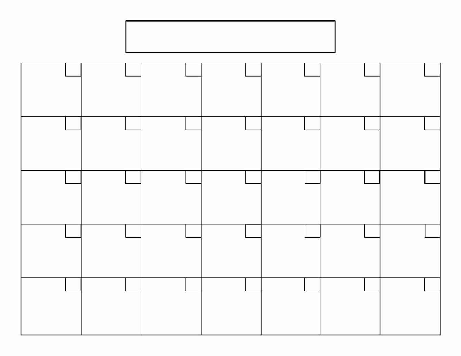 7 Best Of Blank Printable Calendar 2016 8 5 X 11