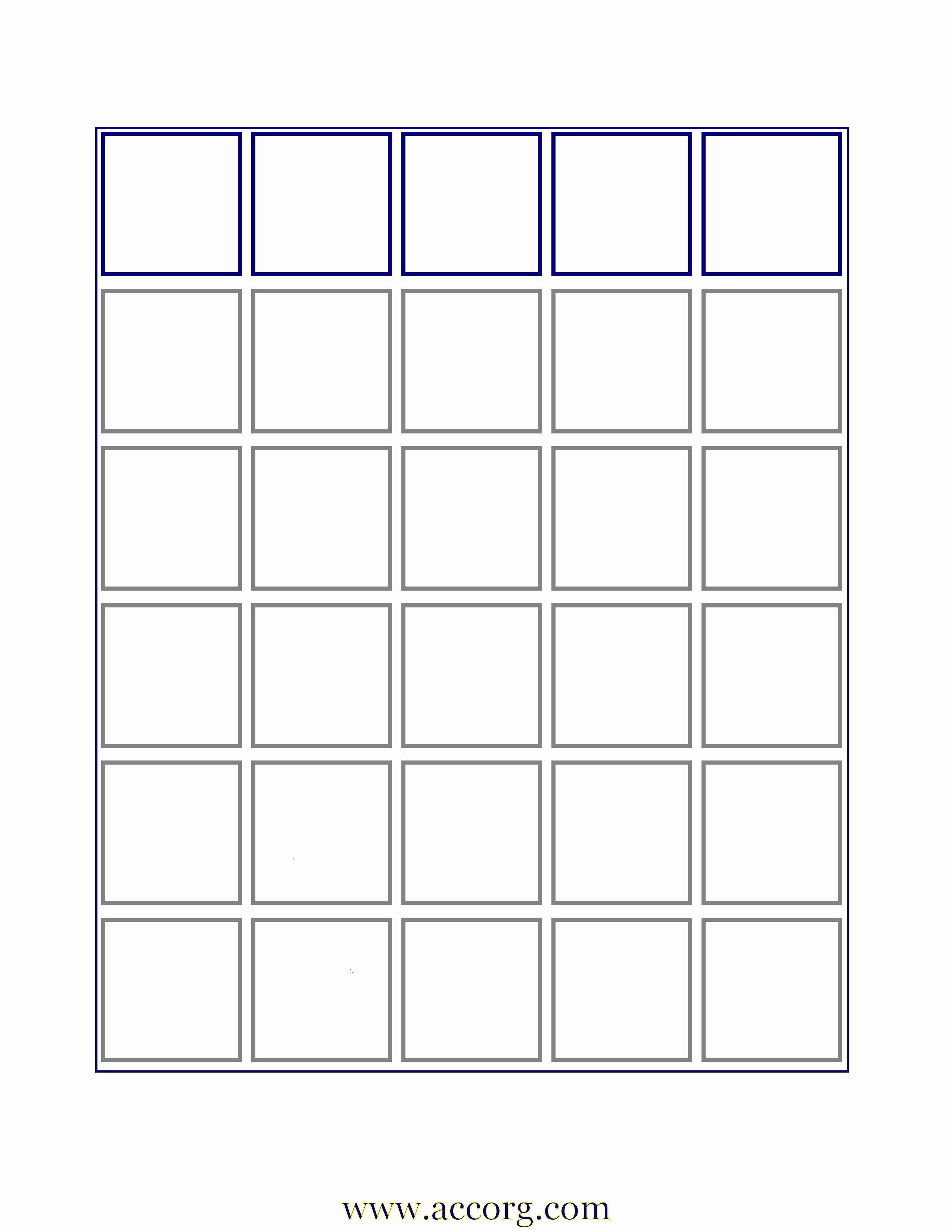 Blank Bingo Card Template Latter Example Template