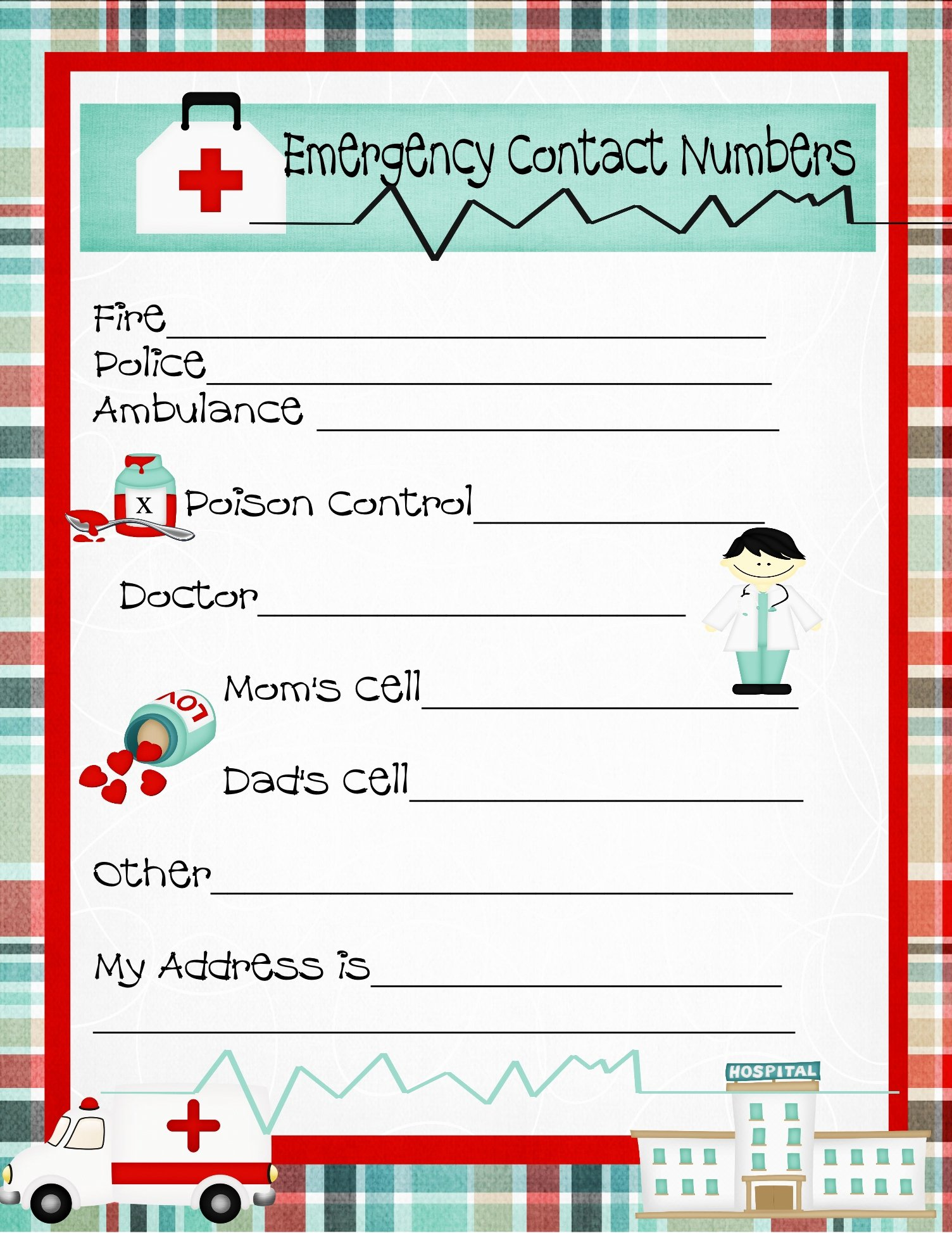 7 Best Of Free Printable Contact List form