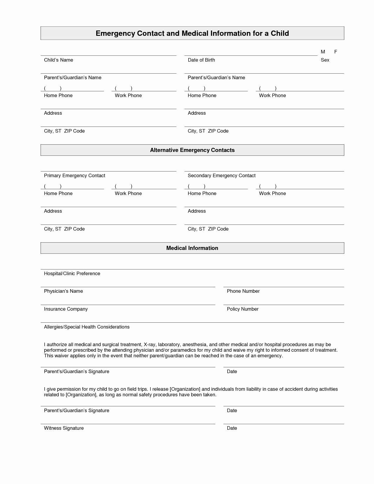 7 Best Of Printable Employee Emergency Contact List