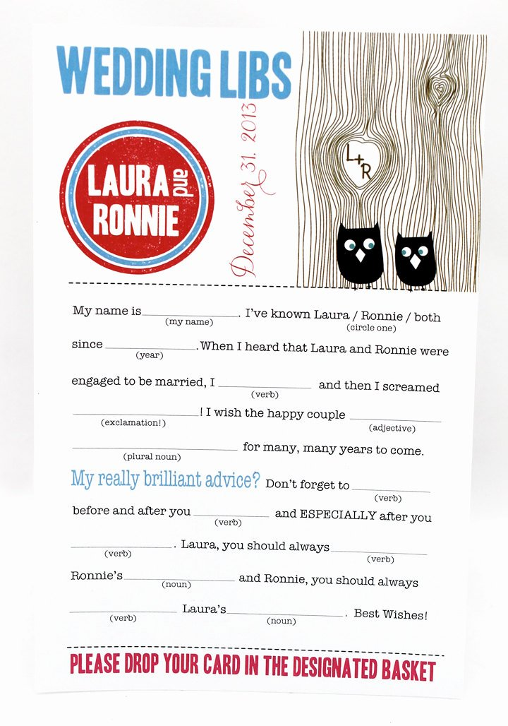 7 Best Of Wedding Mad Libs Pdf Template Printable