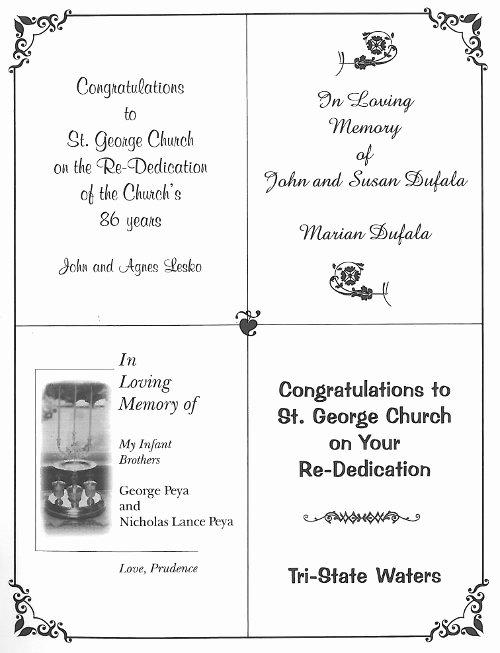 Church Souvenir Booklet Template | BestSouvenirs CO