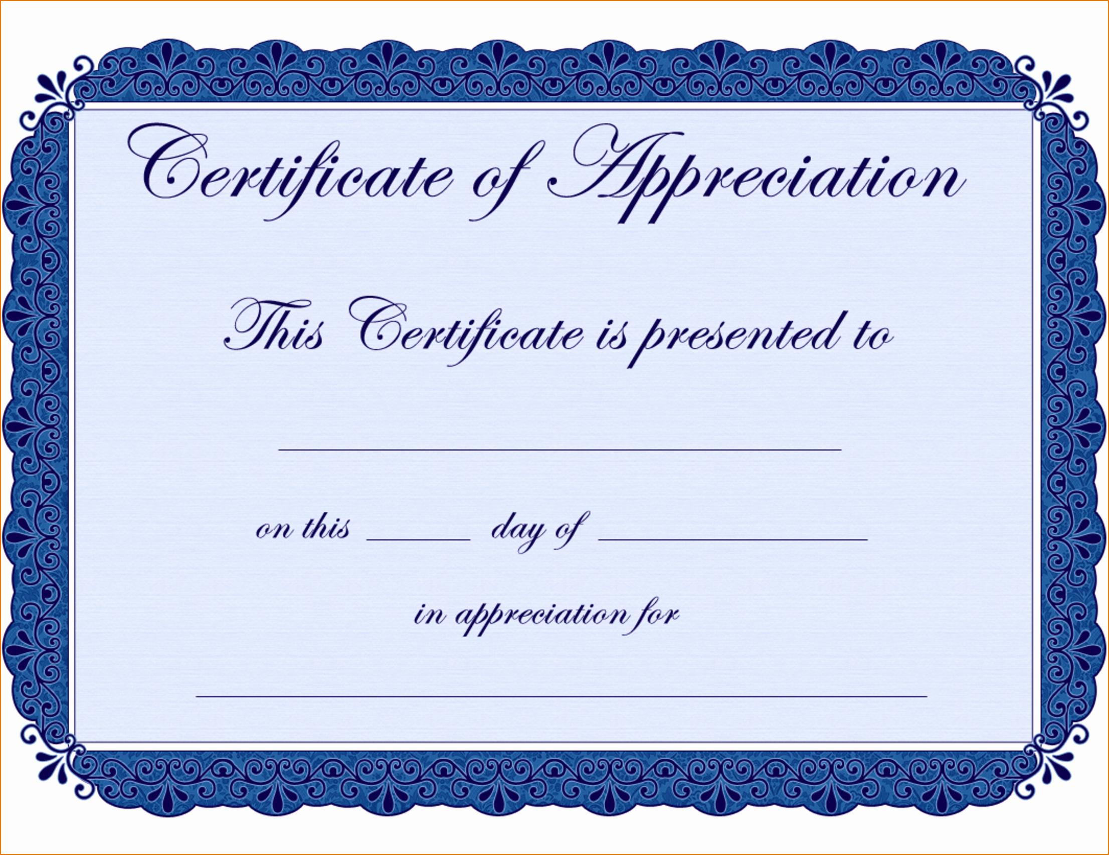 7 Certificate Of Appreciation Template Free