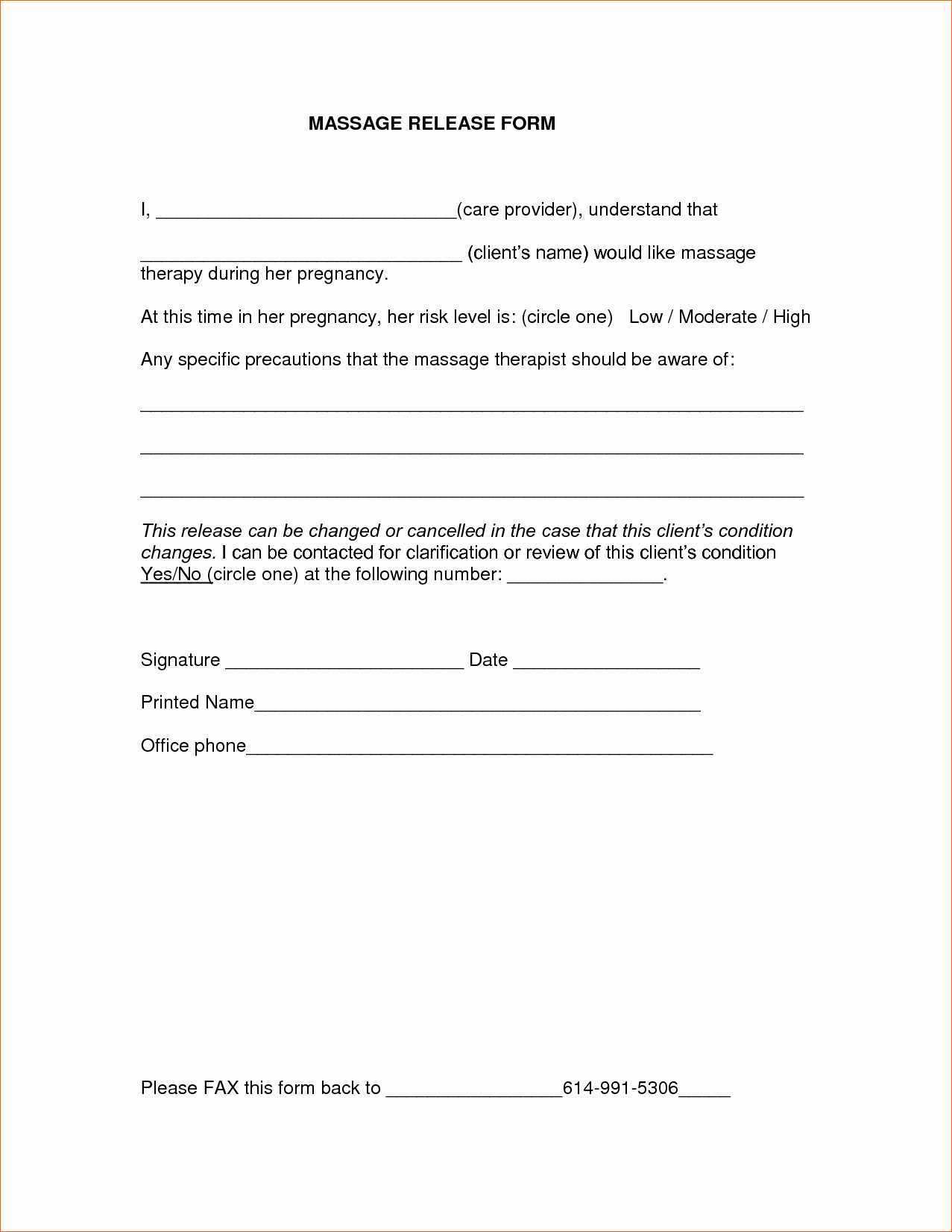 7 Medical Release form Template