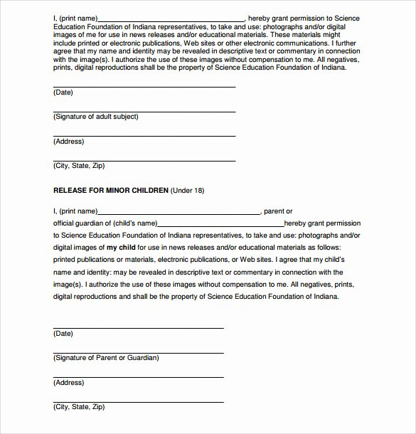 7 Print Release forms – Pdf