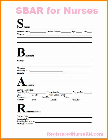 7 Sbar Nursing Examples