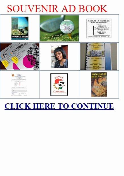 8 Best Of Ads for souvenir Booklet Sample