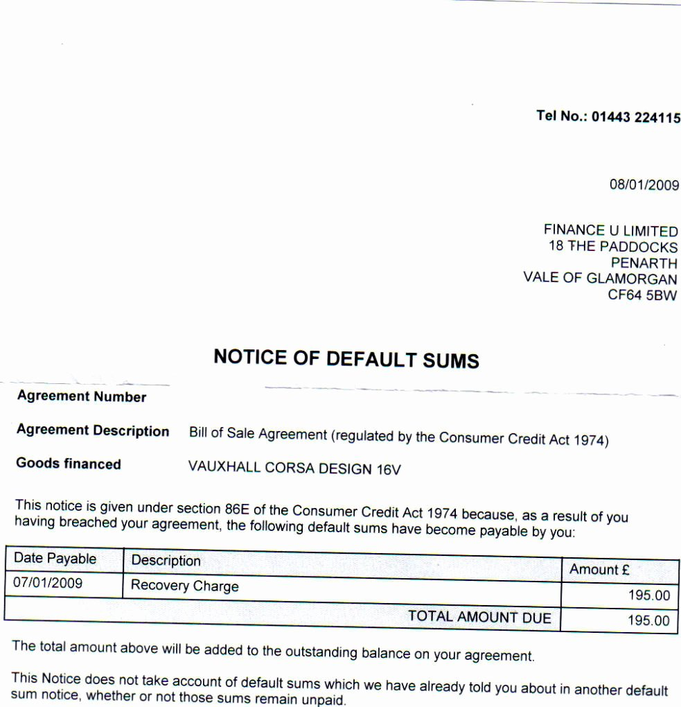 8 Best Of Car Repossession Letter Sample