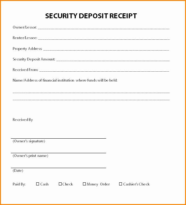 8 deposit receipt template