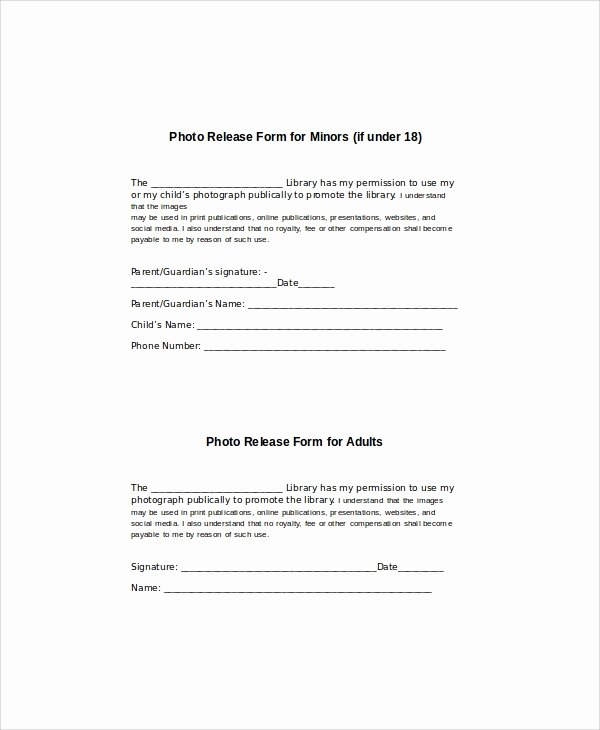 8 Generic Release forms