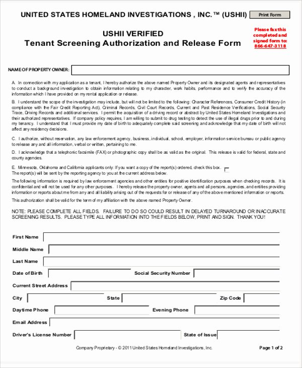 8 Sample Background Check Release forms