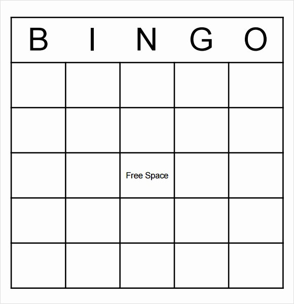9 Blank Bingo Samples – Pdf Word