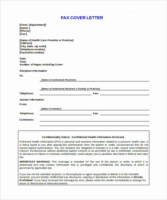9 Confidential Fax Cover Sheet Templates Doc Pdf