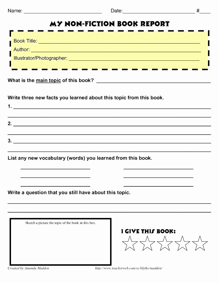 4th Grade Biography Book Report Outline 1000 Ideas About