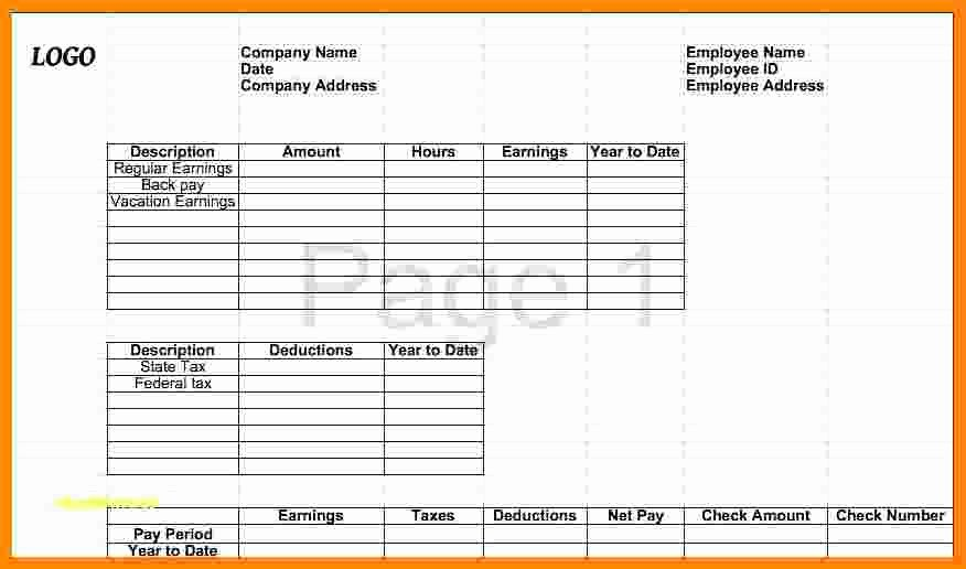 9 Free 1099 Pay Stub Template