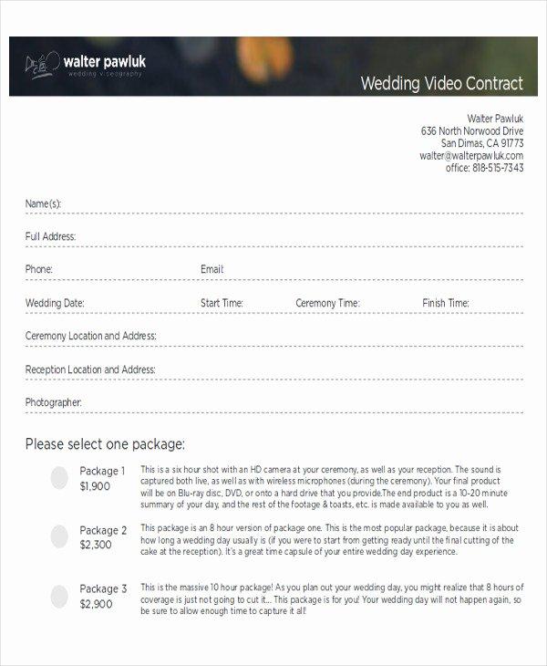 9 Sample Wedding Contract Agreements