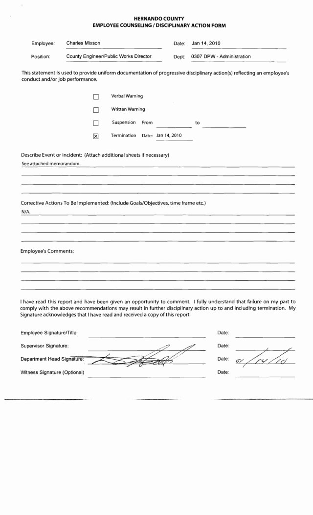 99 Free Employee Counseling form Template Employee