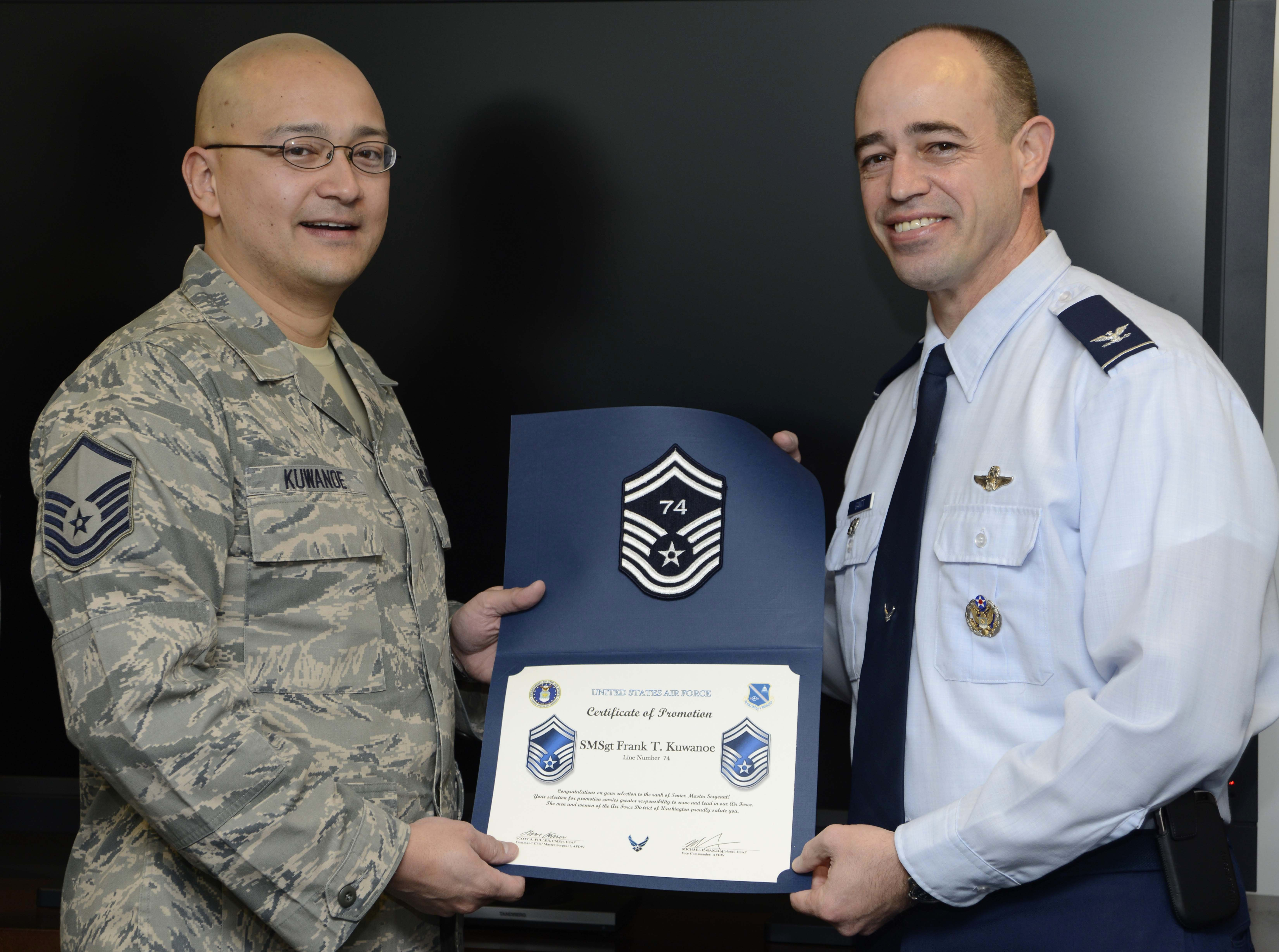 Afdw Airman Selected for Promotion to Smsgt Air force