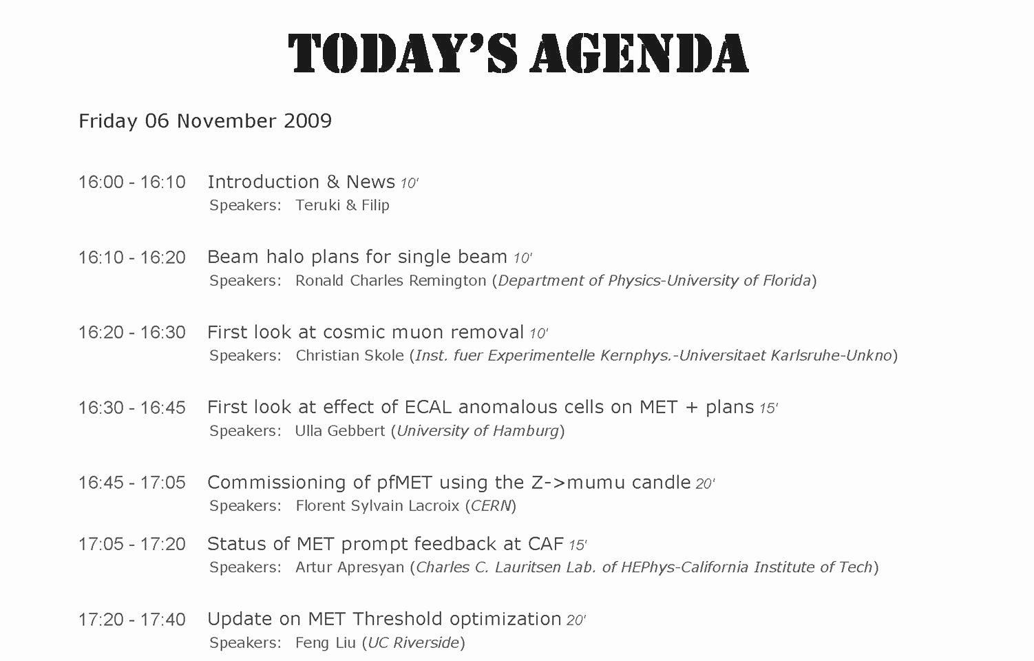 Agenda Meeting format Mughals