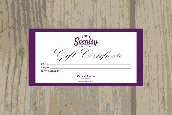 Authorized Scentsy Vendor Scentsy Gift Certificate Digital