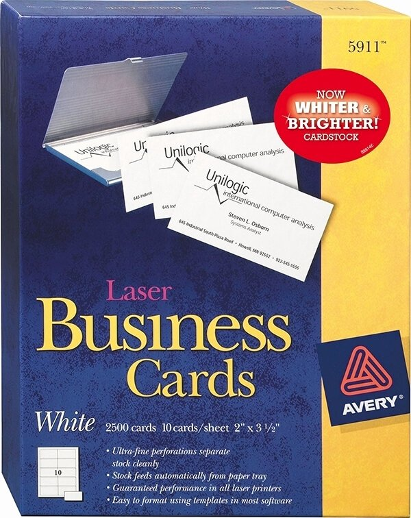 Avery Business Card Template Beepmunk
