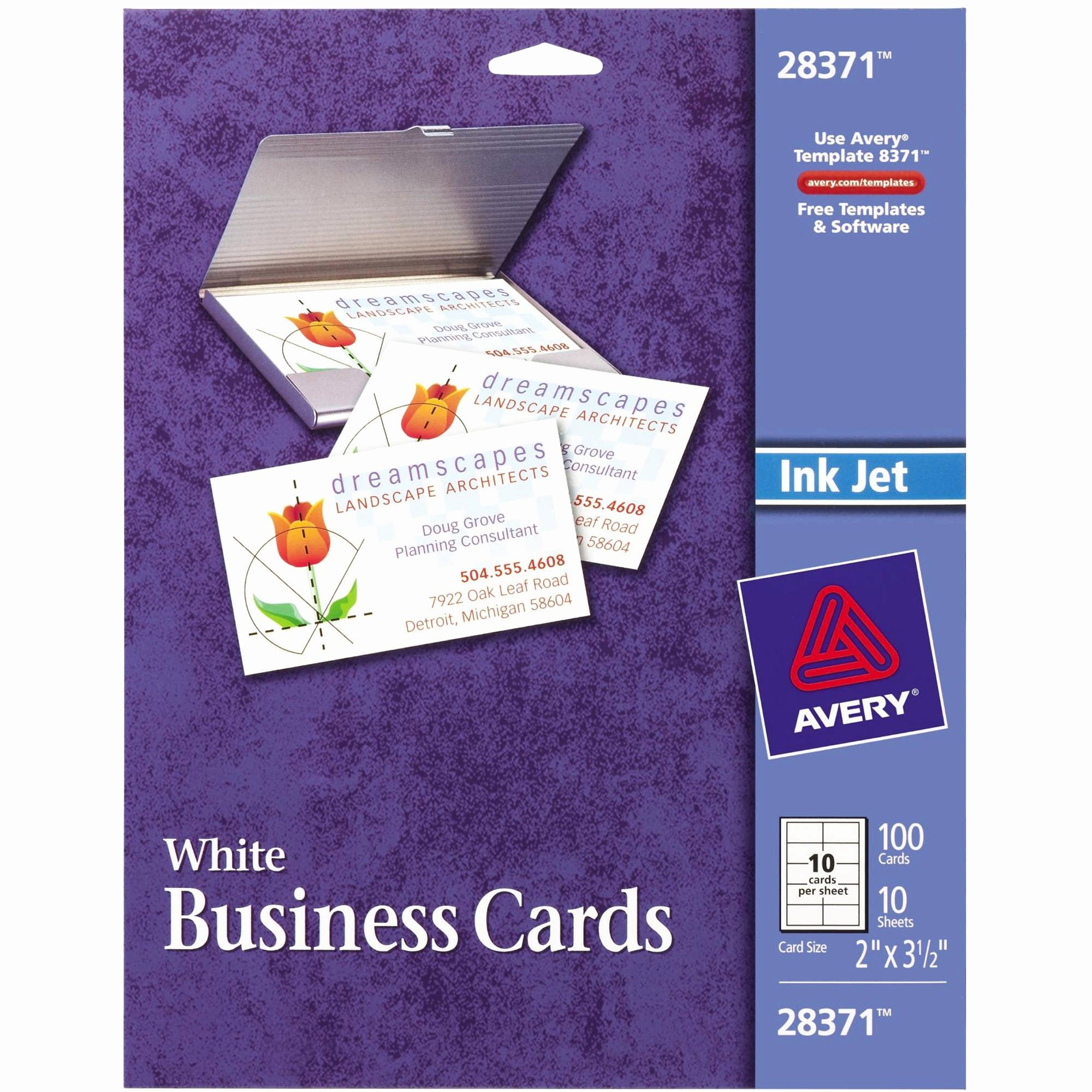 Avery Business Card Template