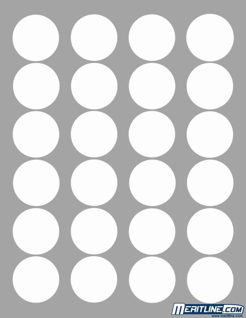Awesome Polaroid Round Adhesive Labels Template 20 Per