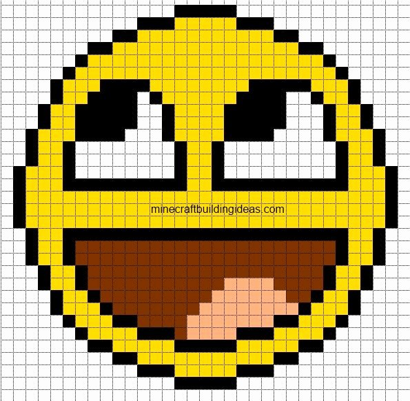 Awesome Smiley Minecraft Pixel Art Pinterest