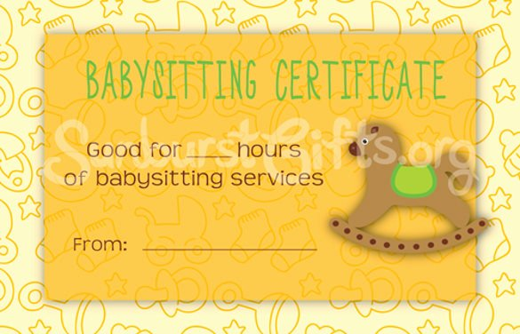 Baby Sitting Voucher Template – 10 Free Word Pdf