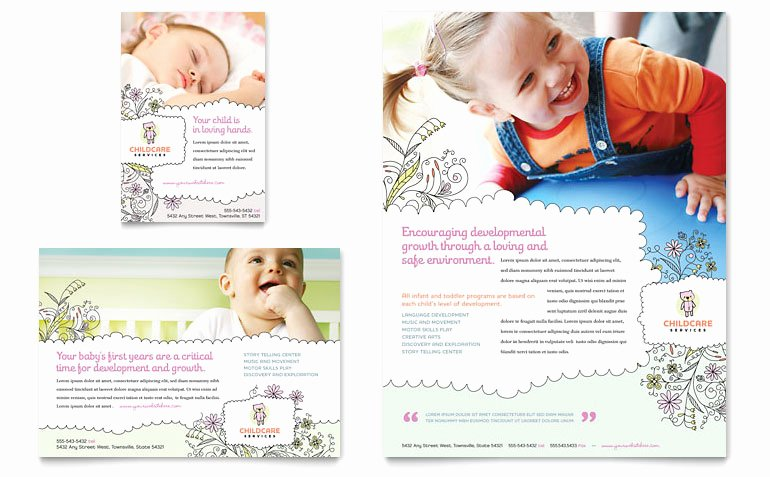 Babysitting & Daycare Flyer & Ad Template Word & Publisher