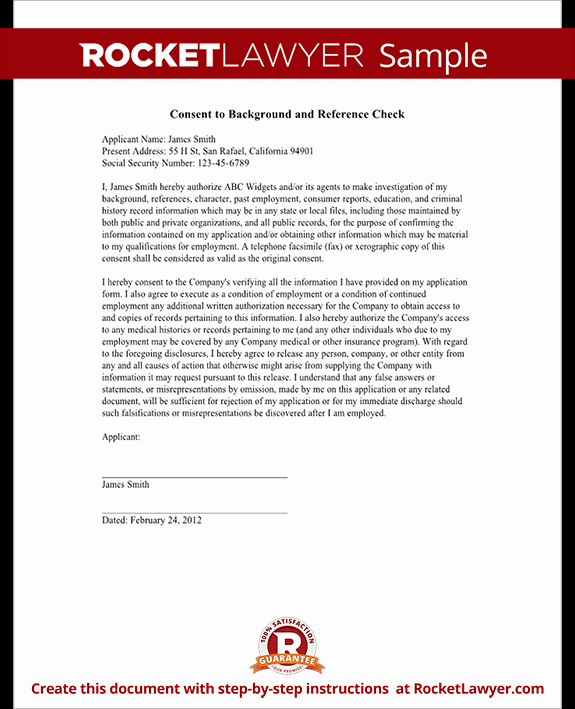 Background Check Authorization form Template with Sample