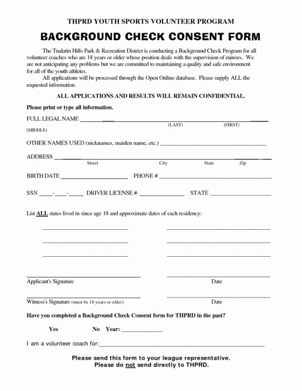 Background Check Consent forms