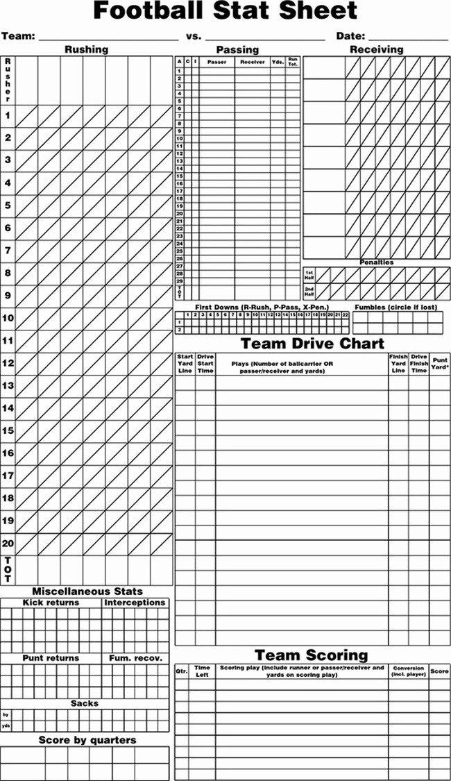 Baseball Player Stats Sheet