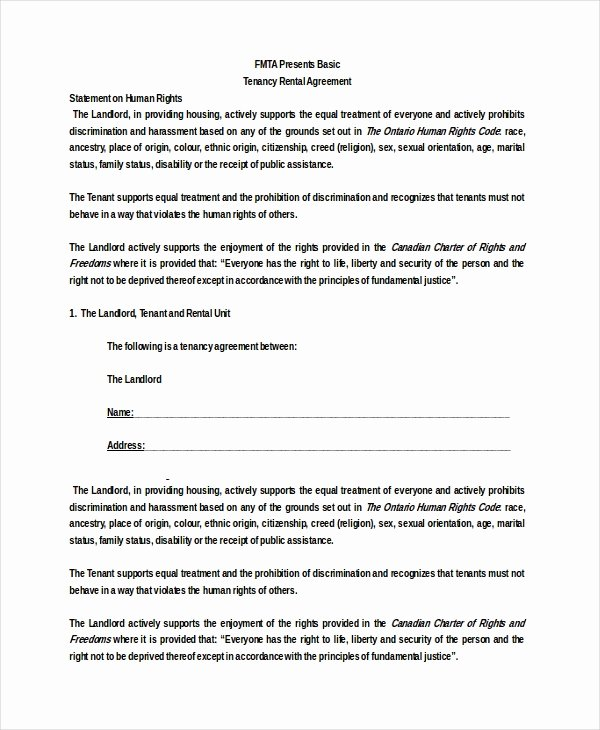 Basic Rental Agreement – 10 Free Word Pdf Documents