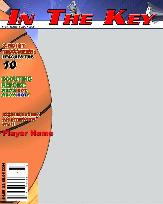 Basketball Magazine Cover Invitation Free soccer Template