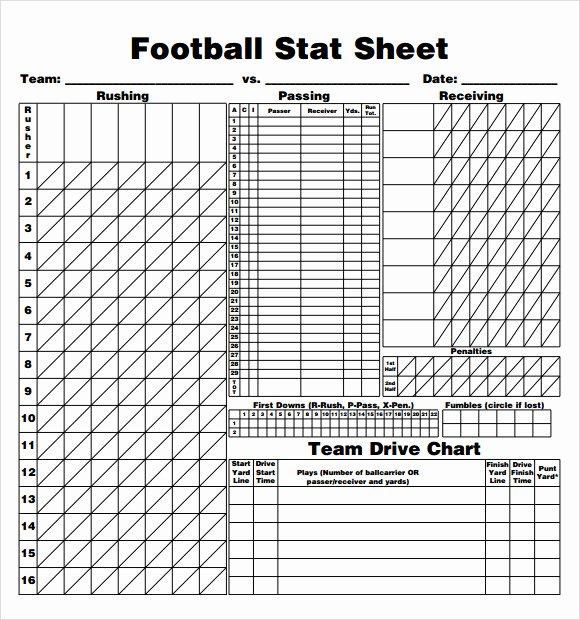 Basketball Score Sheet Line
