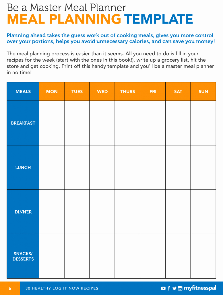 Be A Master Meal Planner with This Template