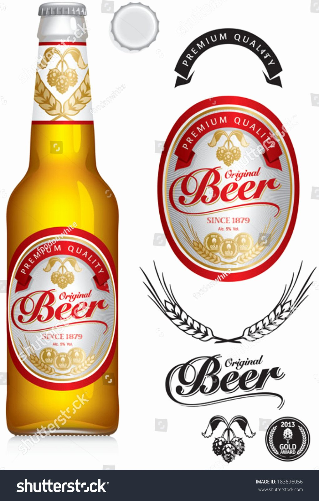 Beer Label Neck Label Clear Stock Vector