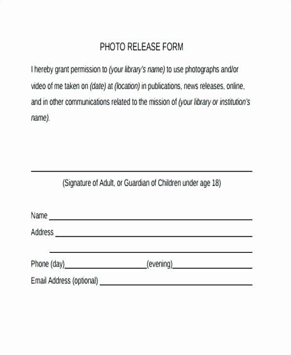 Best Image Consent form Template Sample 9 Examples
