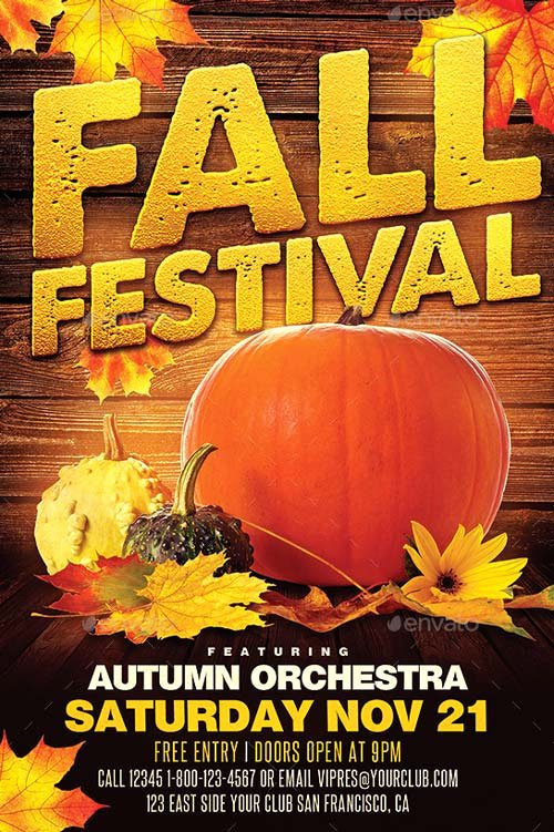Best Of Autumn Flyer Templates Free and Premium Flyer