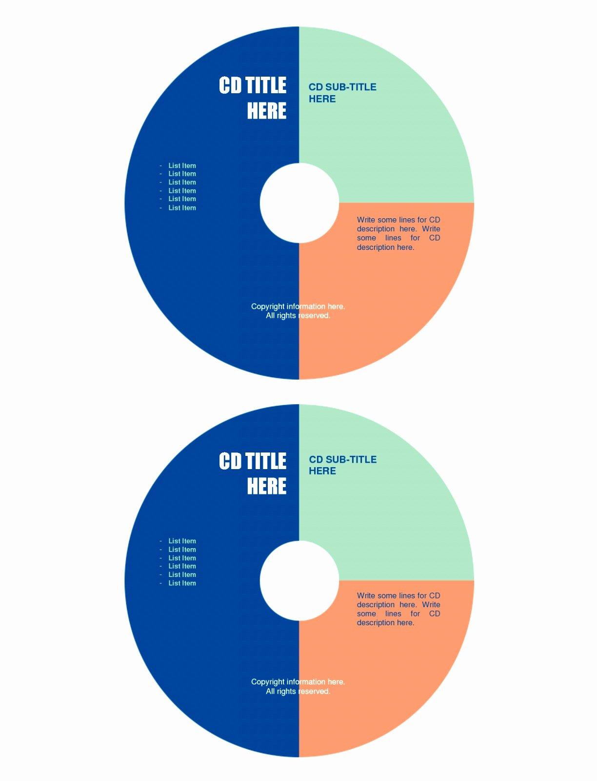 Best S Cd Label Template Word Free Cd Label Printable