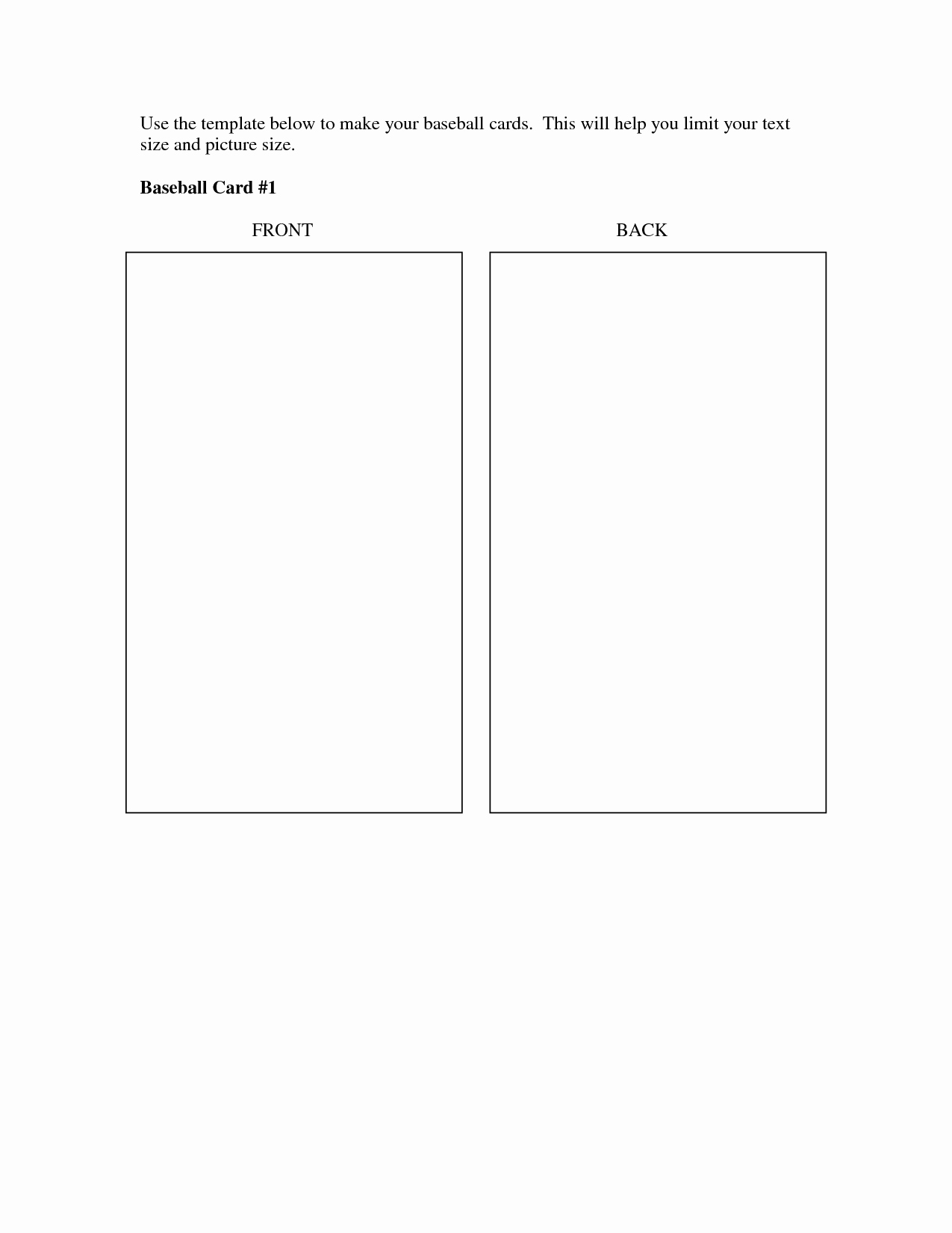 Best S Of Baseball Trading Card Template Printable