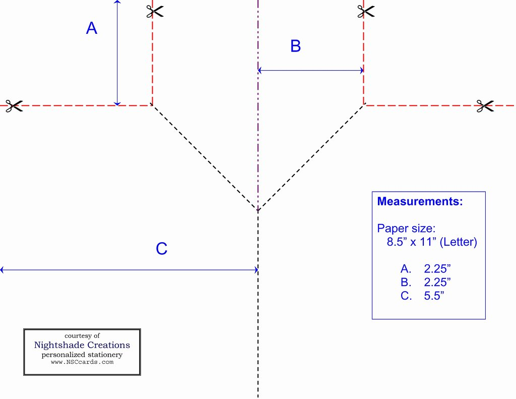 Best S Of Card Folding Templates Free Double Fold