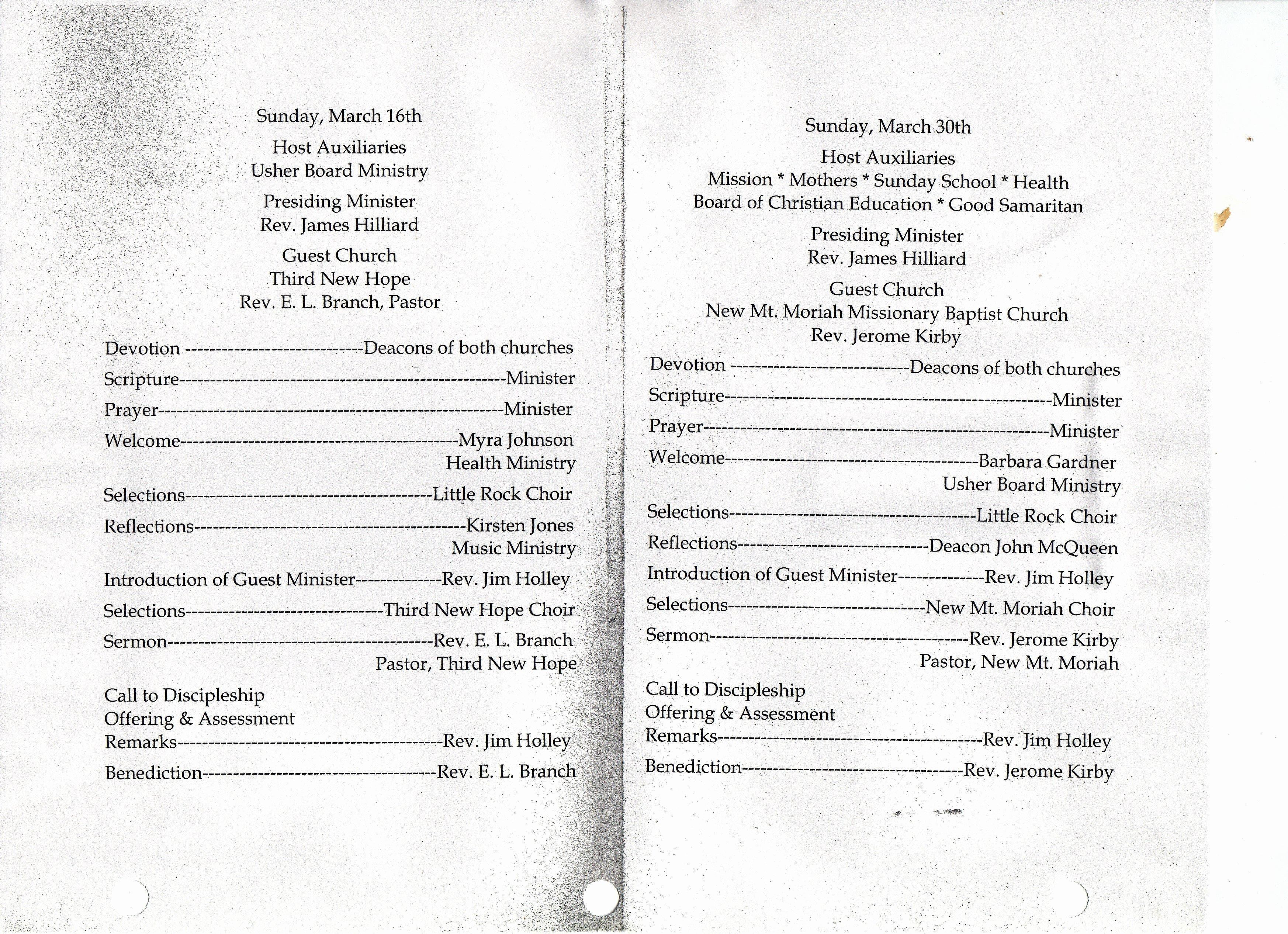 Best S Of Pastor Anniversary Programs Samples