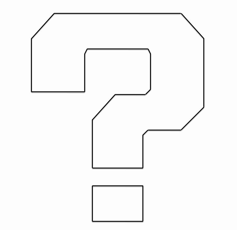 Best S Of Question Mark Template Black Question