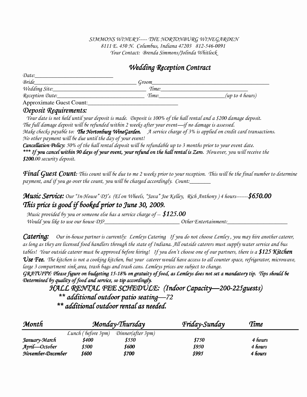 Best S Of Venue Rental Contract Template Real