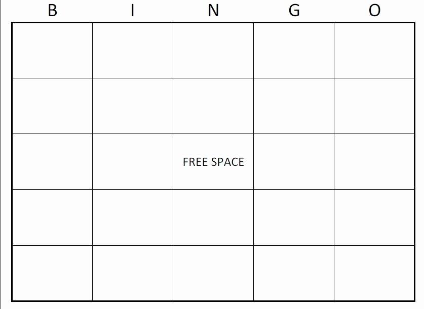 Bingo Card Template Beepmunk
