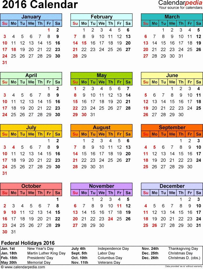Biweekly Payroll Calendar 2016 Excel